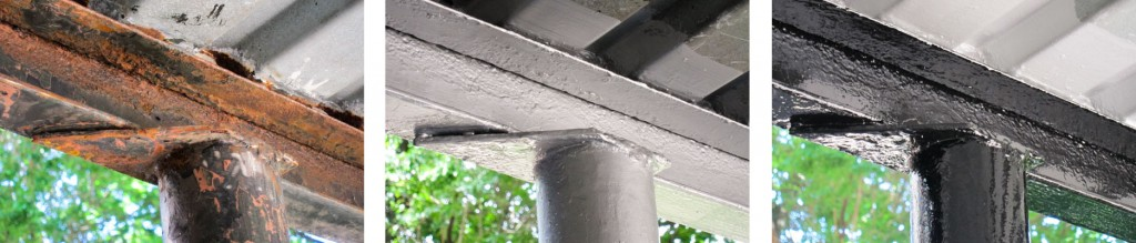 Before - Rust Grip - Enamo Grip on Rusted Support Beams